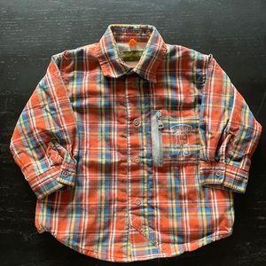 Timberland button up sweater size 6M